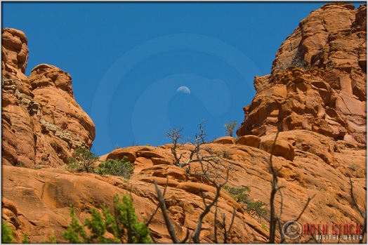 Moonrise Over Bell Rock Vortex in Sedona, Arizona