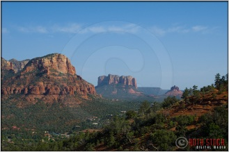 Courthouse Butte and Bell Rock are fixtures of the Sedona landscape.