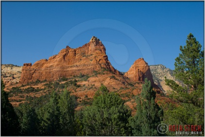 Hiking trails offer spectacular scenery in the Soldiers Pass area of Sedona.