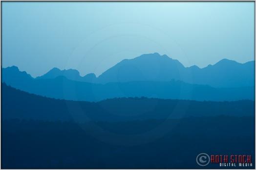 Layers of Mountains Surround Sedona, Arizona.