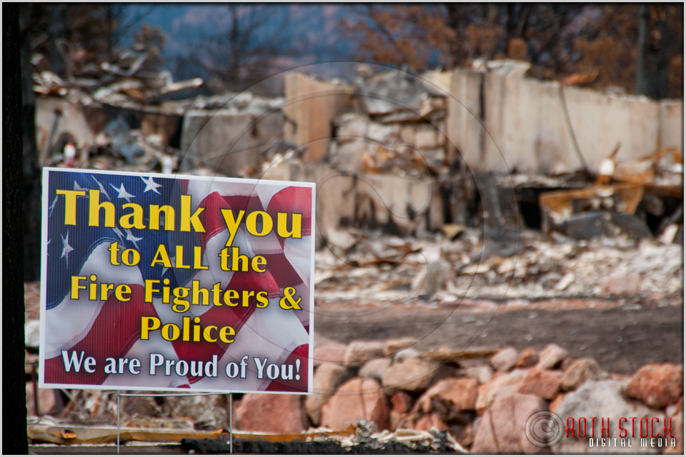 Mountain Shadows: Thank You Fire Fighters & Police