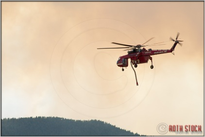 3:40:54pm - Waldo Canyon Fire: Sikorsky S-64 Firefighting Helicopter