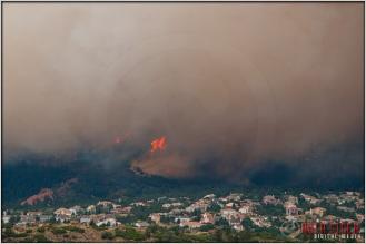 5:00:40pm - Waldo Canyon Fire: Fire Column Collapse