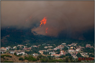 5:00:45pm - Waldo Canyon Fire: Fire Column Collapse