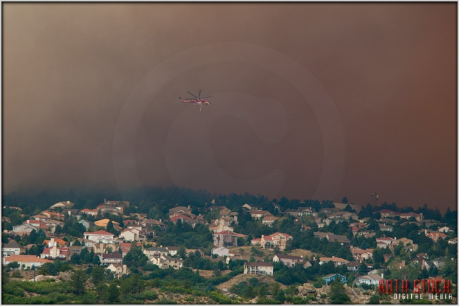 5:08:41pm - Waldo Canyon Fire: Fire Column Collapse
