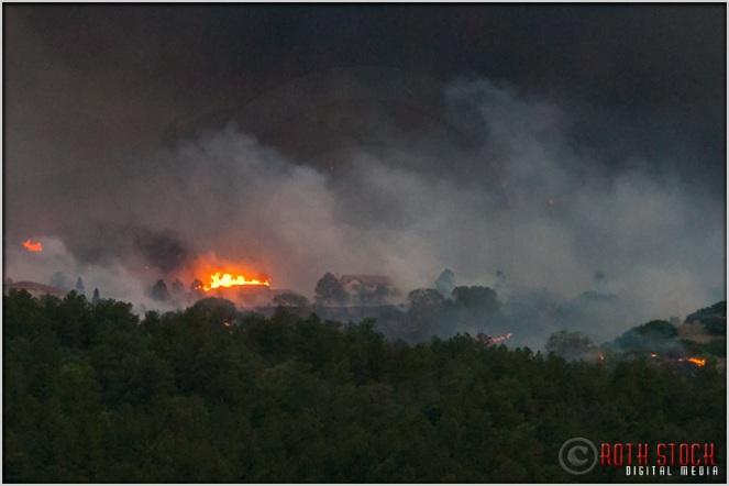 8:17:28pm - Waldo Canyon Fire: Firestorm Engulfs Mountain Shadows