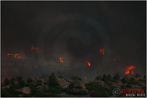 8:18:12pm - Waldo Canyon Fire: Firestorm Engulfs Mountain Shadows