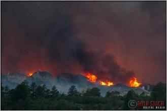 8:18:33pm - Waldo Canyon Fire: Firestorm Engulfs Mountain Shadows