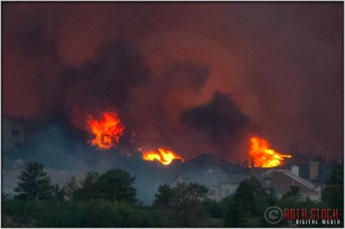 8:19:18pm - Waldo Canyon Fire: Firestorm Engulfs Mountain Shadows