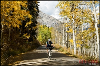 Mountain Biking in the Fall Colors Near Crested Butte, Colorado