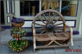 Rustic Bench, Crested Butte, Colorado