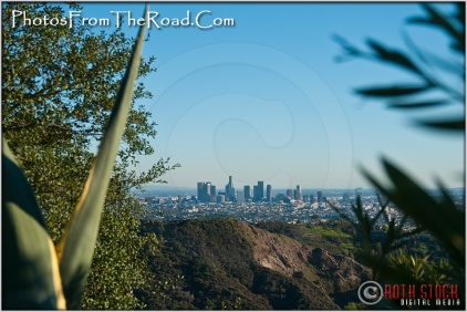 The Los Angeles Skyline on a Clear Winter Day