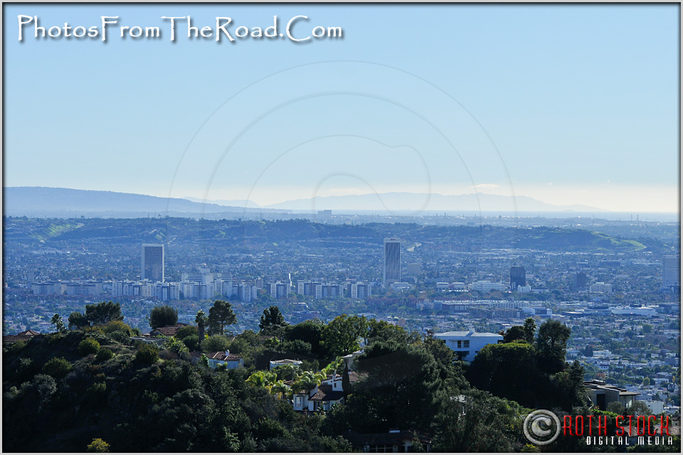 The Fairfax Disctrict as Seen From Mulholland Drive