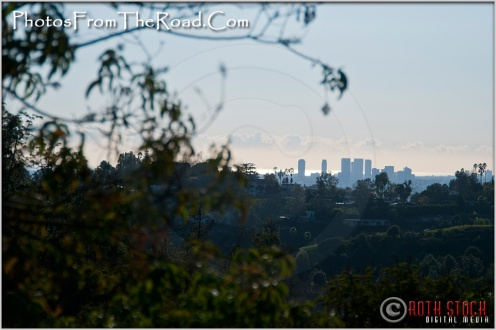 Santa Monica and the Pacific Ocean View From Griffith Park