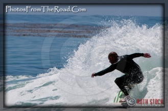 Surfing in Malibu, California