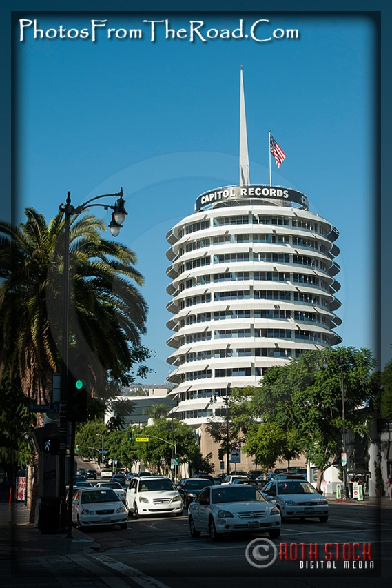 Capital Records near Hollywood and Vine