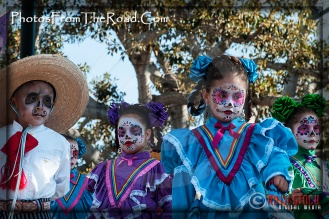 Atmosphere of Olvera Street - Celebrating Dia de los Muertos