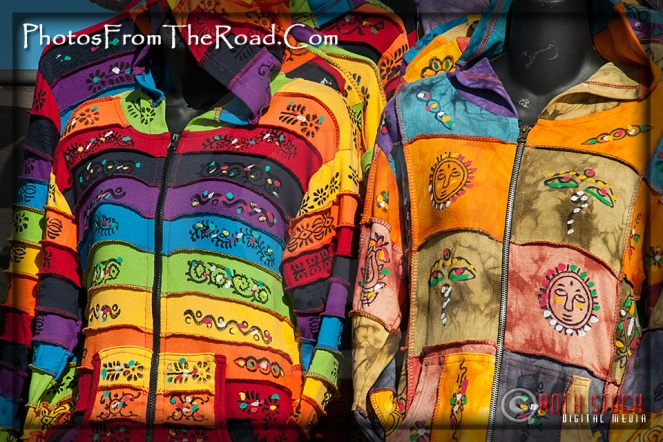 Colorful jackets for sale at the Venice Beach Boardwalk