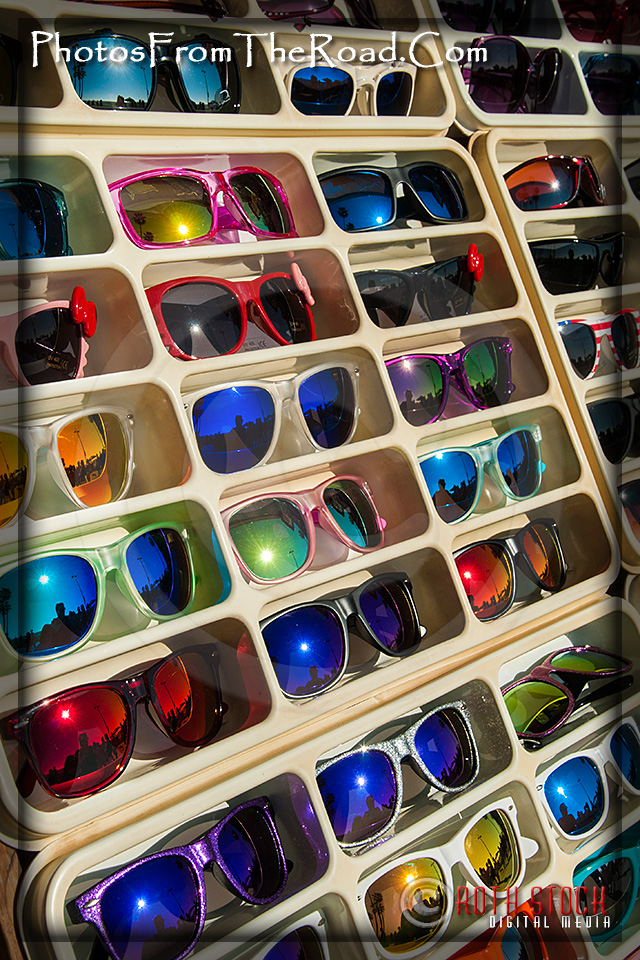 Sunglasses for sale at the Venice Beach Boardwalk