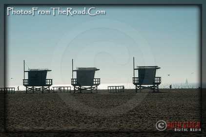 Lifeguard Shacks at the Venice Beach Boardwalk